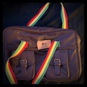 Billabong leather bag brand new